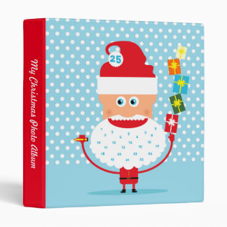 Santa Claus with presents  and advent calendar Vinyl Binders