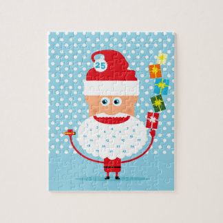 Santa Claus with presents  and advent calendar Jigsaw Puzzle