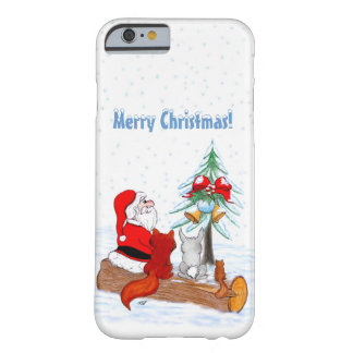 Santa Claus with Rabbit Fox and Squirrel Barely There iPhone 6 Case