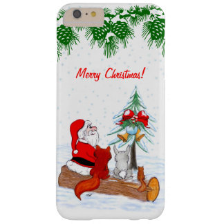 Santa Claus with Rabbit Fox and Squirrel Barely There iPhone 6 Plus Case