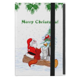 Santa Claus with Rabbit Fox and Squirrel Case For iPad Mini