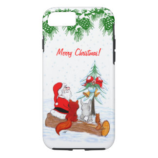 Santa Claus with Rabbit Fox and Squirrel iPhone 7 Case