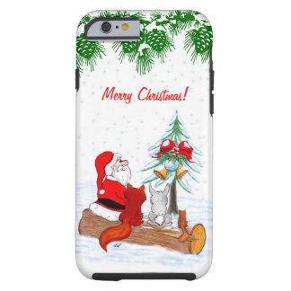 Santa Claus with Rabbit Fox and Squirrel Tough iPhone 6 Case