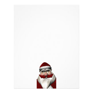 Santa Claus With Red Mustache Letterhead