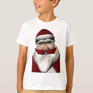 Santa Claus With Red Mustache T-Shirt