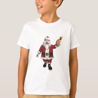 Santa Claus With Red Tabby T-Shirt