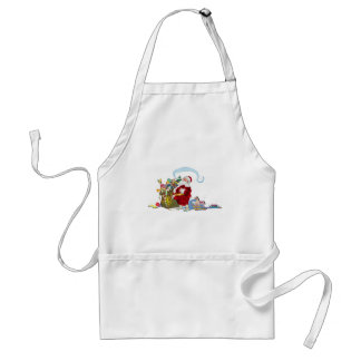 Santa Claus With Sack Of Toys Adult Apron