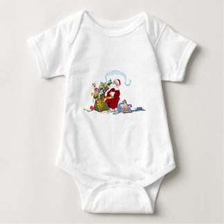 Santa Claus With Sack Of Toys Baby Bodysuit