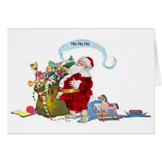 Santa Claus With Sack of Toys Card