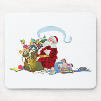 Santa Claus With Sack Of Toys Mouse Pad