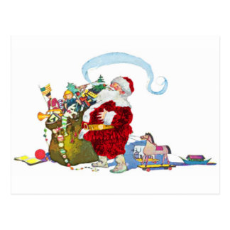 Santa Claus With Sack of Toys Postcard