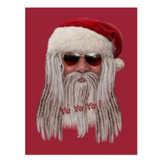Santa Claus with shades & dreads Postcard