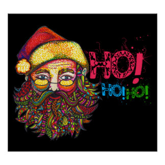 Santa Claus with Text Poster