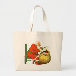 SANTA CLAUS WITH THE LIST JUMBO TOTE BAG