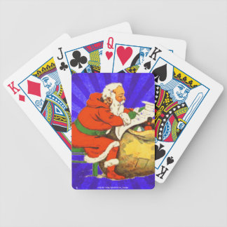 SANTA CLAUS WITH THE LIST BICYCLE PLAYING CARDS