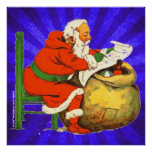 SANTA CLAUS WITH THE LIST POSTERS