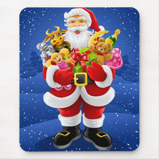 Santa Claus With Toys Mouse Pad