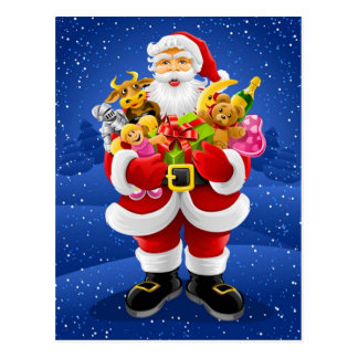 Santa Claus With Toys Postcard