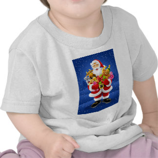 Santa Claus With Toys T-shirts