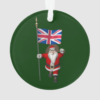 Santa Claus With Union Flag Of The UK