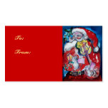 SANTA CLAUS WITH VIOLIN BUSINESS CARD