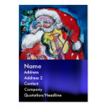 SANTA  CLAUS WITH VIOLIN BUSINESS CARD TEMPLATES