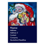 SANTA  CLAUS WITH VIOLIN BUSINESS CARDS