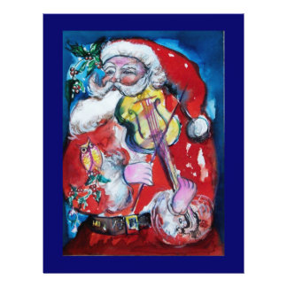 SANTA CLAUS  WITH VIOLIN FLYER