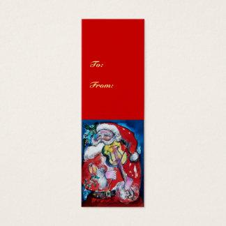 SANTA CLAUS WITH VIOLIN MINI BUSINESS CARD