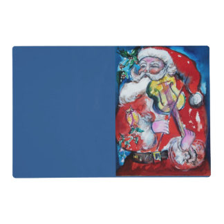 SANTA CLAUS WITH VIOLIN PLACEMAT