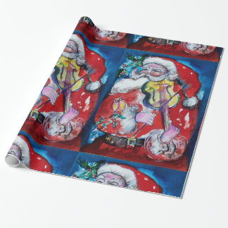 SANTA CLAUS WITH VIOLIN WRAPPING PAPER