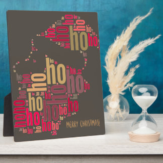 Santa Claus wordcloud Ho Ho Ho Plaque