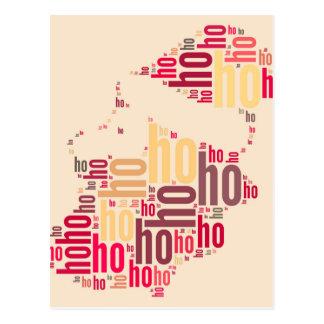 Santa Claus wordcloud Ho Ho Ho Postcard