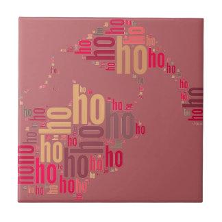 Santa Claus wordcloud Ho Ho Ho Tile