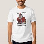 Santa Clause aiming gun - Make My Funny Christmas T-Shirt