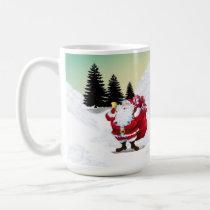 Santa Clause and Frosty Christmas Mug