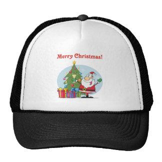 Santa Clause and presents christmas holiday Mesh Hats