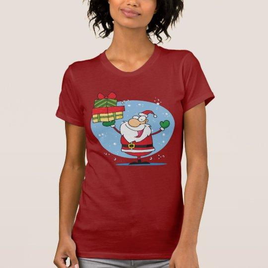 Santa Clause and presents christmas holiday T-Shirt