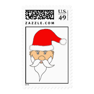 Santa Clause Art Postage Stamps