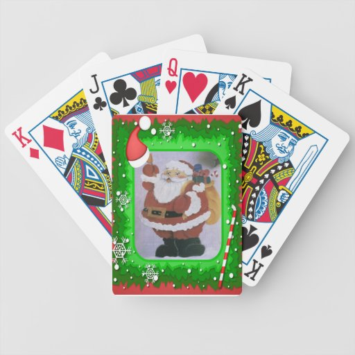 santa clause bicycle card deck