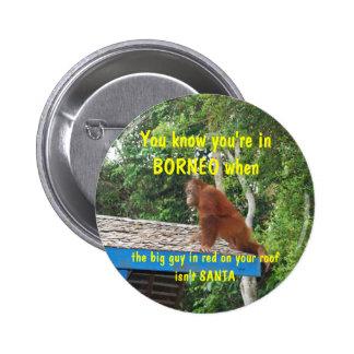 Santa Clause Borneo Christmas Button