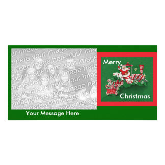 Santa Clause Candy Train Card