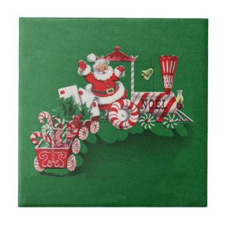 Santa Clause Candy Train Tile