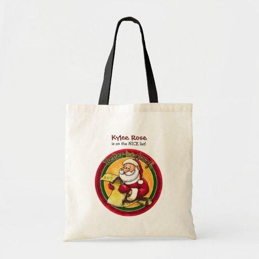 Santa Clause Canvas Bags