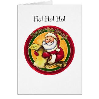 Santa Clause Greeting Card