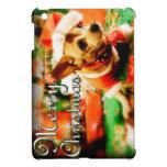 Santa Clause Chihuahua Merry Christmas iPad Mini Covers