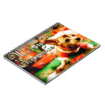 Santa Clause Chihuahua Merry Christmas Spiral Note Book