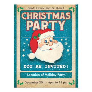 Santa Clause Christmas Party Flyer