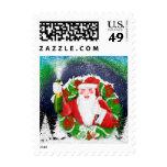 Santa clause Christmas postage Stamp