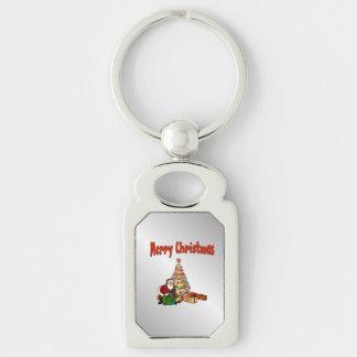 Santa Clause Christmas Tree Keychain